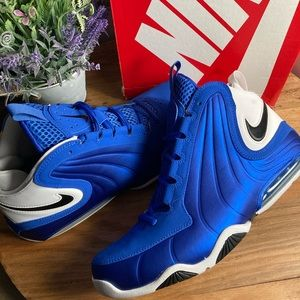 Nike Mens Air Max Wavy Basketball Shoes Blue Black